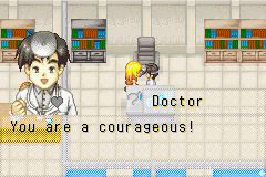 Harvest Moon - More Friends of Mineral Town - Cut-Scene  - I AM A COURAGEOUS!! XD - User Screenshot